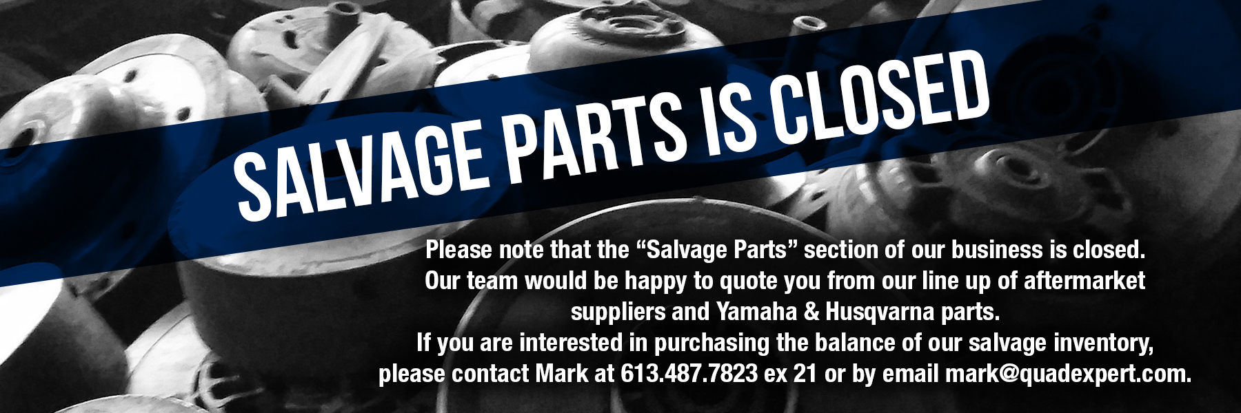 Salvage Vehicles Yard For Sale | Quad Expert